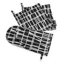 Patakinnas Coronna, musta/valkoinen, 15x30