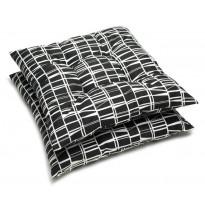Istuintyyny Coronna, musta/valkoinen, 40x40