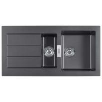 Keittiöallas Sirius SID 651, 1000x510mm, Tectonite musta, Verkkokaupan poistotuote