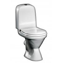 WC-istuin GBG 398, lyhyt malli, P-lukko, 3/6l huuhtelu, valkoinen