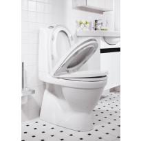 WC-istuin Nautic 5500, kaksoishuuhtelu 2/4l, CeramicPlus, softclose-kansi, piiloviemäri, S-lukko