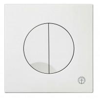 Huuhtelupainike/etulevy Triomont XS, 3/6 l, valkoinen