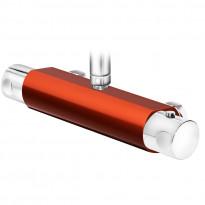 Suihkutermostaatti Coloric, suihkuliitäntä yläpuolella, alumiinia, punainen