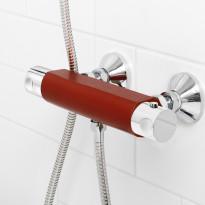 Suihkutermostaatti Coloric, alumiinia, punainen