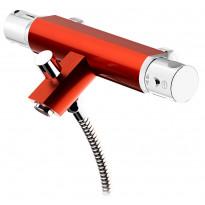 Amme- ja suihkutermostaatti Coloric, alumiinia, punainen
