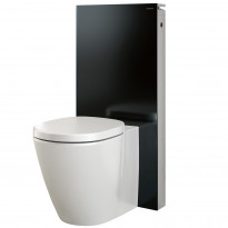Seinä-WC-elementti Monolith back-to-wall wc:lle, musta, 101cm