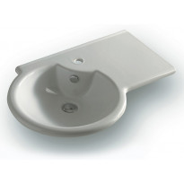 Pesuallas Modula Medium oikea, 760x500 mm, valkoinen