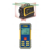 Laseretäisyysmittari Spectra Precision QM55 + moniviivalaser Spectra Precision LT58, tehosäteillä