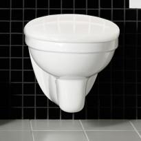 WC-istuin Hafa Wall, seinämalli, valkoinen