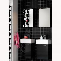 Kylpyhuoneryhmä Solo 420 peilikaapilla, musta