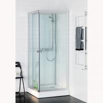 Suihkukaappi Polaris 70x90 Square, kirkas lasi, 700x900mm, Tammiston poistotuote