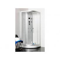 Hierova suihkukaappi/höyrysauna Polaris 90 Round, 900x900x2200mm, Tammiston mallipoisto