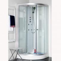 Hierova suihkukaappi Polaris Round 90, kirkas lasi, 900x900x1980mm