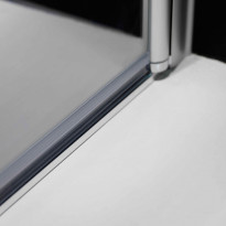 Igloo R, kulmasuihkukaapin alumiininen lattialista, 15x10mm