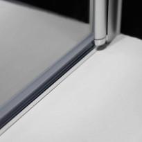 Igloo C, kulmasuihkukaapin alumiininen lattialista, 15x10mm