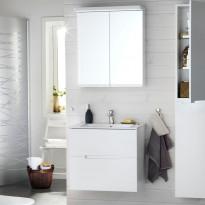 Kylpyhuoneryhmä Sun 600, peilikaapilla, valkoinen matta