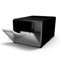 Plus Box laatikko 402621-766-000, musta runko/läpinäkyvä ovi