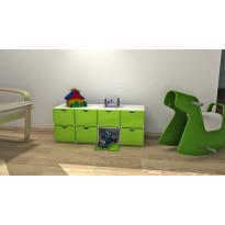 Plus Box laatikko 402621-970-790, valkoinen runko/vihreä ovi