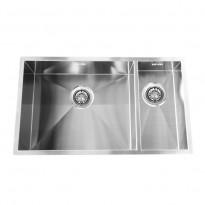 Keittiöallas BARONGA BAR5020, altapäin kiinnitettävä, 2-altainen, 50+20x40x19cm, rst