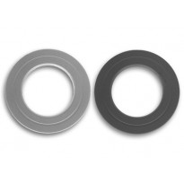 Savuhormin kaulus, ∅130, musta/harmaa