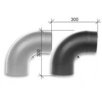 Savuhormi, taivutettu kulma 90°, ∅150, nuohousluukku, musta/harmaa