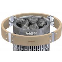Valaistu suojakaide Harvia HPP3L, Cilindro Plus-kiukaalle, lämpökäsitelty haapa