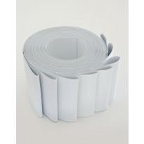 Lamelliverho 600x2500mm pimentävä valkoinen leveys 89mm x 8 kpl/pak