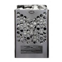 Sähkökiuas Helo Hanko 80 STJ, 8kW, 8-12m³, kiinteä ohjaus, kromi