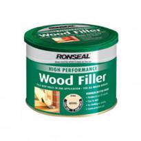 Puukitti Ronseal High Perf Wood filler, 275g, dark ruskea, ulko- ja sisäkäyttöön
