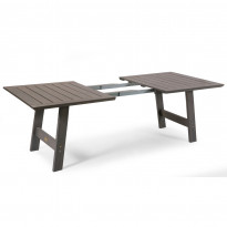 Jatkopala Cecilia pöytään, 100x60cm, harmaa