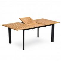Ruokapöytä Nydala, 90X150/200cm, jatkettava, musta/teak