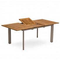 Ruokapöytä Nydala, jatkettava, 90x150/200cm, alumiini/teak