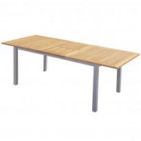 Ruokapöytä Nydala, 90X150/200cm, jatkettava, alumiini/tammi