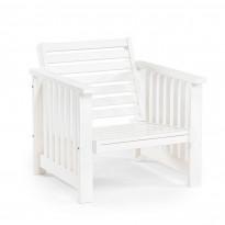 Nojatuoli Gotland, valkoinen, Verkkokaupan poistotuote