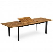 Ruokapöytä Nydala, 90X200/280cm, jatkettava, musta/teak