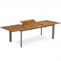 Ruokapöytä Nydala, 90X200/280cm, jatkettava, alumiini/teak