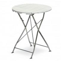 Pöytä Krögaren, Ø60cm, taitettava, valkoinen