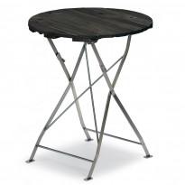 Pöytä Krögaren, Ø60cm, taitettava, musta
