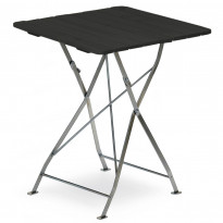 Pöytä Krögaden, taitettava, 70x70cm, musta
