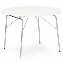 Pöytä Sandhamn, Ø100cm, valkoinen/alumiini