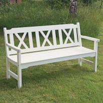 Puutarhasohva Visby, 3-h, valkoinen