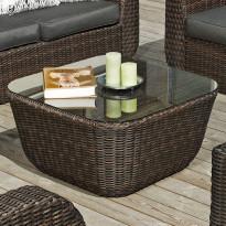 Pöytä Monte Carlo, 80x80cm, tummanruskea