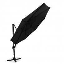Aurinkovarjo XL (35570) säädettävä, Ø350cm, musta