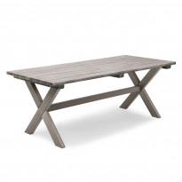 Pöytä Shabby Chic 86x195cm, harmaa