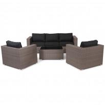 Sohvaryhmä Viber (3h-sohva, 2xnojatuolit, pöytä) harmaa