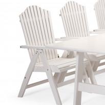 Nojatuoli Bullerö, säädettävä ja kokoontaitettava, valkoinen