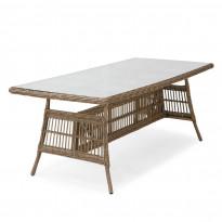 Pöytä Coriano, 90x190cm, harmaanbeige