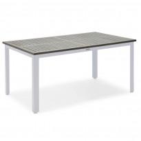 Pöytä Nydala, 90x150cm, harmaa/valkoinen