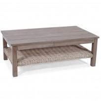 Pöytä Kullen, 122x66cm, antiikinharmaa