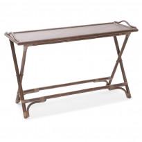 Sivupöytä Lomma, 120x45x75cm, kokoontaitettava, kuultava harmaa